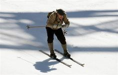 Didier Cuche Races Final Race in Wooden Skis and Vintage Gear