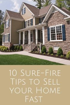 10 Tips for Selling Your Home Fast in 2020 - Learn from an award winning real estate agent how to prepare your home for a quick sale! Sell Your House Fast, Selling Your House, Sell House, Grey Houses, Old Houses, Fix Leaky Faucet, Real Estate Pictures, House Worth, Selling Real Estate