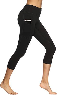 LOVINO Womens Fitness Yoga Pants with Pocket High Waist Tummy Control Running Leggings Gym Tights for Women