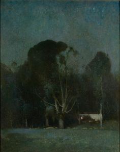 Night, Old Windham, Nocturne - Emil Carlsen