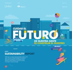 DHNN was on charge of developing Banco Macro's CSR report. The task included the design of an editorial piece and its subsequent motion graphic version, defining a unique aesthetics and tone according to the report´s nature and target. Banner Design, Layout Design, Csr Report, Best Web Design, Flat Design, Digital Web, Promotional Design, Text Style, Creative Industries