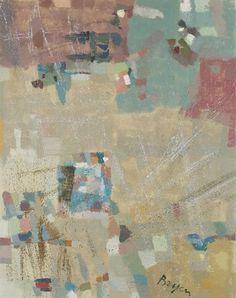 CAMILLE BRYEN (1907-1977)  Fusée diffusée  signé 'Bryen' (en bas à droite); signé et titré 'Bryen Fusée Diffusée' (au dos) huile sur toile  92 x 73 cm. (36 1/8 x 28¾ in.)  Peint vers 1968.