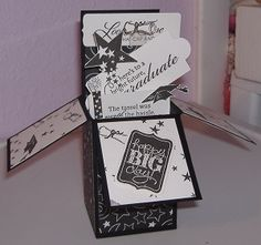 Graduation Card in a Box by hookedoncrafts - Cards and Paper Crafts at Splitcoaststampers