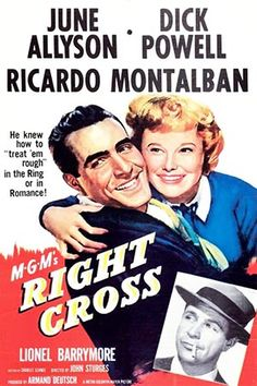1950: Marilyn Monroe movie poster for the film Right Cross, starring June Allyson, Dick Powell & Richard Montalban .... #marilynmonroe #movieposter #filmposter #pinup #iconic #movieclassic #monroe #1950s #vintageposter