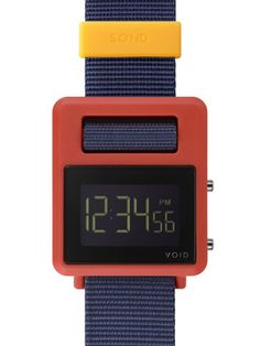 red, yellow + blue digital watch | Void (more colour combos and solid colours to choose from)