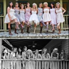 Love Miranda Lambert's idea of flowy dresses and cowboy boots. Country chic!