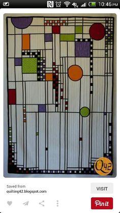 Beautiful Frank Lloyd Wright inspired quilt!