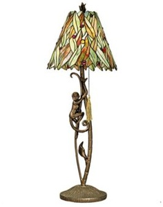 Monkey Table Lamps: Dale Tiffany Aikman Climbing Monkey Table Lamp,Lighting