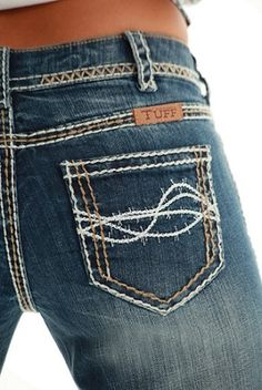 "I have these and love them! All I wear is cowgirl tuff jeans! NEW ""Cowgirl Tuff"" Don't You Dare Fence Me In Jean (Pre order)"