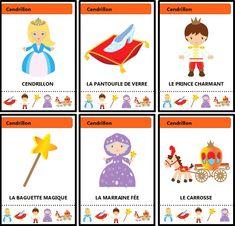 Jeu des sept familles des contes traditionnels : Cendrillon French Language Lessons, Core French, Parenting Teens, Fairy Tales, Animation, Album, Education, Crafts, Cookies