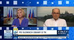 """Były polityk Platformy Obywatelskiej Jan Maria Rokita w """"Faktach po faktach"""" na antenie TVN24 """"ochłodził"""" zapędy Justyny Pochanke, która była podekscytowana słowami Obamy. – Czy słuchając Baracka Obamy mówiącego o polskiej konstytucji o polskiej demokracji, o wolności,o pluraliźmie jako dogmatach polityki zagranicznej, o trosce o Trybunał, niezależności sądów pomyślał Pan – ale wstyd?– zapytała Justyna Pochanke. – Nie – odpowiedział spokojnym głosem Rokita. – To nie wstyd? – dopytywała…"""