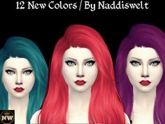 Sims 4 CC's - The Best: Hair Recolors by Naddiswelt
