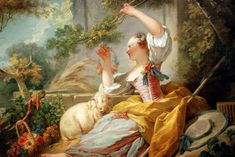 France and Rococo Art, an Art History Survey Course at NCMA Francisco Goya, Fragonard Paintings, Rococo Painting, Jean Antoine Watteau, Jean Honore Fragonard, Milwaukee Art Museum, Paintings I Love, Painting Inspiration, 18th Century