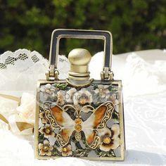 Butterfly Flower Antique Perfume Bottle