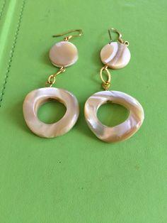 Brazilian Mother of Pearl Earrings by joytoyou41 on Etsy