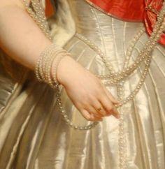 Anna Pavlovna (detail), 1849, by Nicaise de Keyser (Belgian, 1813-1887)