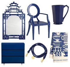 Bright Navy Home Accessories - Bright Navy Decor - House Beautiful