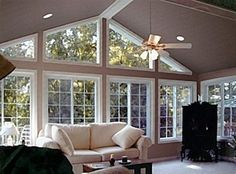 sunroom additions | Room addition – Atlanta sunroom with with gable interior and vaulted ...