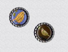 f003 Kronkorken Magnet Set Vögelchen, bottlecap von Mondcatze´s Zauberwerkstatt auf DaWanda.com