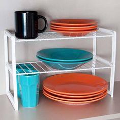 Ideal para organizar todos os objetos na sua cozinha ou dispensa. Com o Rack para objetos duplo G, você ganha espaços no seu armário de cozinha.