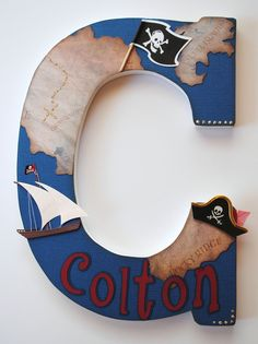 Nursery Letters - Pirate Theme. Oh how Charles would love a pirate room.