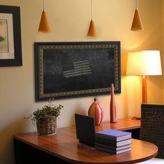 American Made Rayne Traditional Cameo Bronze Blackboard/Chalkboard (46 x 46)