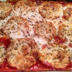 """Baked Eggplant Parmesan   """"I was extremely happy with this recipe!"""""""