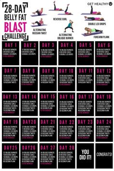 Belly Fat Workout - We've set up a FREE 28-day ab challenge to blast belly fat! Combine this challenge with your own strength and cardio workouts and youll have flat abs in no time! Do This One Unusual 10-Minute Trick Before Work To Melt Away 15+ Pounds of Belly Fat