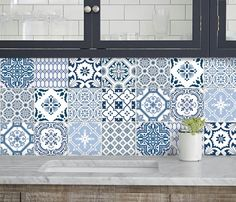 Decorating 2 Home decor trend is changing faster than you can hack the wall! Tile decals are the best solution to give your outdated kitchen/bath a fresh look without messy renovation. These are peel and stick FLAT vinyl stickers though they appeared to be very three-dimensional for some designs and intentionally mimic a real tile.  { SIZES & COLOR & DESIGN} Available in standard size 4x4in, 4.25x4.25in, 6x6inch, 8x8in, 12x12in and in 12pc,24pc or 40pc pack. YES, I do custom size and color   { PRODUCT DE...