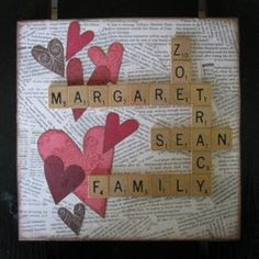 Scrabble love! This is going to be at the Cecak's house for sure. Already designed it. NOw I need scrabble pieces!