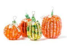 Precious Pumpkin Beads   AllFreeJewelryMaking.com