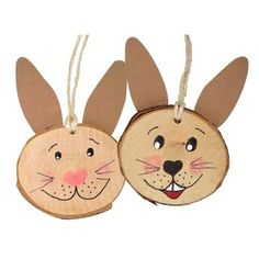 Bastelset Holzhänger Hase, 5 Stück The kit contains 5 wooden hare rabbits and is a great decoration for the Easter shrub or a home-made giveaway for children's birthdays. Wood Log Crafts, Wood Slice Crafts, Diy For Kids, Crafts For Kids, Arts And Crafts, Wooden Hangers, Easter Activities, Kids Wood, Nature Crafts