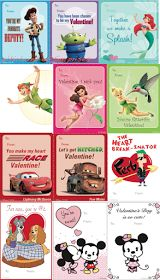 Free printable Disney Valentine's Cards