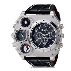 Oulm HP1349 large dial double movement GMT when the two mens military form >>> You can get additional details at the image link.(This is an Amazon affiliate link)