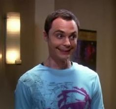 Sheldon's smile just kills me. Reminds me of you, Sis! :p