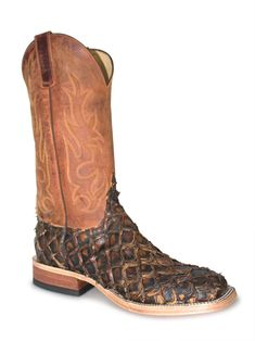 Texas Legacy Mens Cognac Crocodile Print Leather Cowboy Boots J Toe 9 E US
