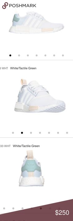 Adidas NMD white/tactile green Authentic Adidas NMD , Brand new , 2 size 7