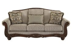 Ashley Furniture Signature Design - Martinsburg Sofa - Traditional Couch - Meadow with Brown Base ** Be sure to check out this awesome product. (This is an affiliate link) Living Room Furniture Sale, Couch Furniture, Living Room Sets, Furniture Ideas, Furniture Removal, Furniture Companies, Furniture Stores, Furniture Design, Sofa Couch