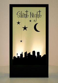 Silent Night Silhouette Panel