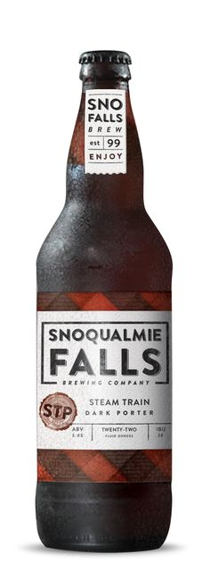 SNOQUALMIE FALLS BREWERY by Curtis Beach, via Behance beer mxm
