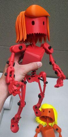 robot girl - 3D printed