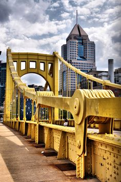 Roberto Clemete Bridge by Jim Watkins, via 500px.  Pittsburgh.