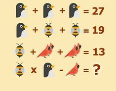 can you solve this puzzle? Math Games For Kids, Educational Activities For Kids, Puzzles For Kids, Fun Math, Brain Teasers With Answers, Brain Teasers For Kids, Math Logic Puzzles, Math Genius, Math Crafts