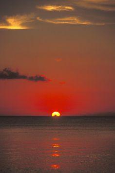 New Wonderful Photos: Red Orange Sunset