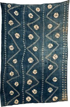 Africa   Tie-Dyed Indigo Bamana Woman's Wrapper. Mali   20th century   Hand spun and woven cotton, Strip woven and tie dyed