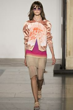 The Trend Report: Spring/Summer 2014 (Vogue.com UK).  Jonathan SaundersBomber jackets are EVERYWHERE.