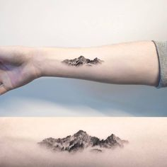 "1,845 Likes, 30 Comments - Small Tattoos (@small.tattoos) on Instagram: ""#Mountain #tattoo by @ilwolhongdam · Seoul #littletattoos #smalltattoos #life #art #awesome…"""