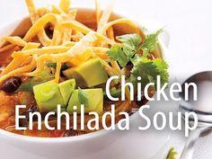 Chicken Enchilada Soup - Inspired Cooks