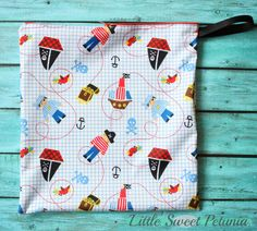 Wet bag Multiple color/pattern options by LittleSweetPetunia