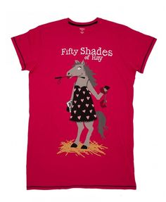 Hatley Fifty Shades of Hay Horse One Size Sleepshirt